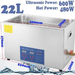 Digital Stainless Ultrasonic Cleaner Ultra Sonic Bath Cleaning Tank Timer CE
