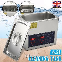 Digital Stainless Ultrasonic Cleaning Ultra Sonic Bath Cleaner Timer Heated 6.5L