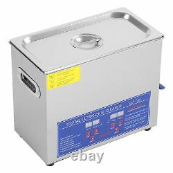 Digital Ultra Sonic Cleaner Bath Timer Stainless Tank Cleaning 6L Ultrasonic UK
