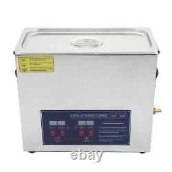 Digital Ultrasonic Cleaner 3.2/6.5/10L Stainless Timer Heat Ultra Sonic Cleaning