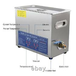 Digital Ultrasonic Cleaner 3/6/10/15/30L Timer Heater 304 Stainless Steel