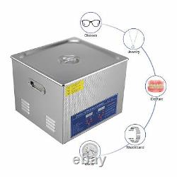 Digital Ultrasonic Cleaner 3/6/10/15/30L Timer Stainless Steel CotainerUK