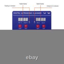 Digital Ultrasonic Cleaner 30L Timer Stainless Steel Cotainer UK