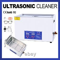 Digital Ultrasonic Cleaner 30L Timer Stainless Steel Cotainer with Timer Heated UK