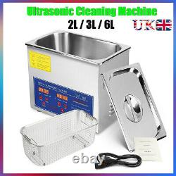 Digital Ultrasonic Cleaner Timer Bath Heater Stainless Steel Cotainer 2L 3L 6L