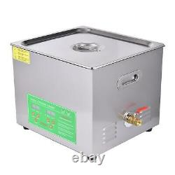 Digital Ultrasonic Cleaner Timer SUS304 Stainless Steel Cotainer 3/6/10/15L 50Hz