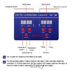 Digital Ultrasonic Cleaner Timer Stainless Steel Cotainer 2L/3.2L/10L/15L/30L UK