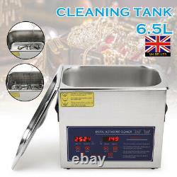 Digital Ultrasonic Cleaning Tank Cleaner 6.5L Timer Heated Ultra Sonic Cleaning