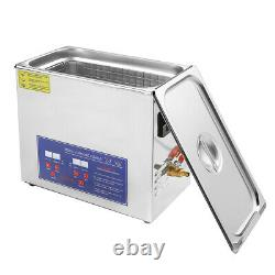 Digital Ultrasonic Cleaning Tank Ultra Sonic Bath Cleaner Stainless Timer Heated