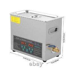Double-frequency Digital Stainless Steel Ultrasonic Cleaner Cleaning Machine 6L