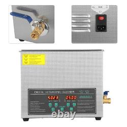 Dual Frequency 6L Stainless Digital Ultrasonic Cleaner Heat Cleaning Timer 220V