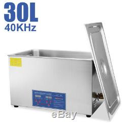 HFS(R) Commercial Grade Digital Ultrasonic Cleaner-Stainless Steel 30L Capacity