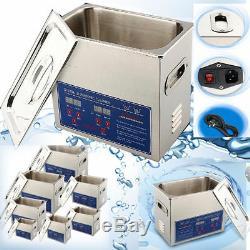 JIETAI Digital Stainless Ultrasonic Cleaner UltraSonic Bath Cleaning Tank Heater
