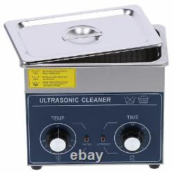 Knob Type 3L Digital Ultrasonic Cleaner Timer Heater Stainless Steel Cotainer UK