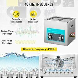 Mophorn 10L Ultrasonic Cleaner 304 Stainless Steel Professional Knob Control