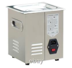 NEW 1.3L Stainless Steel Ultrasonic Cleaner Cleaning Machine JPS-08A 110V/220V