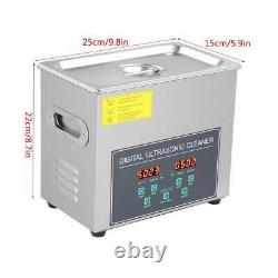 New 3L Stainless Ultrasonic Cleaner Ultra Sonic Bath Cleaning Tank Timer Heater