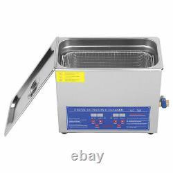 New 6L Stainless Steel Digital Ultrasonic Cleaner Ultra Sonic Bath Heater&Timer