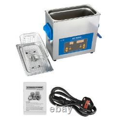 Pro 6L Digital Ultrasonic Cleaner Jewelry Watch Timer Cleaning Stainless Tank UK