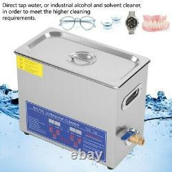 Pro 6L Digital Ultrasonic Cleaner Timer Stainless Steel Cotainer UK Plug 220V