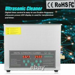Professional 10L Digital Ultrasonic Cleaner Stainless Steel Bath Heater Basket