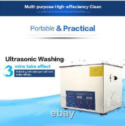 Professional 10L Digital Ultrasonic Cleaner Stainless Steel Bath Heater withBasket
