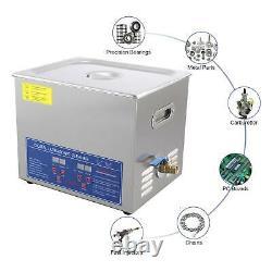 Professional 10L Digital Ultrasonic Cleaner Timer Heater 304 Stainless Steel UK
