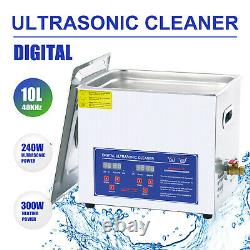 Professional 10L Digital Ultrasonic Cleaner Timer Stainless Steel Cleaning Tank