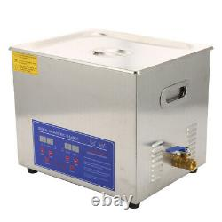 Professional 10L Digital Ultrasonic Cleaner Timer Stainless Steel Cotainer UK