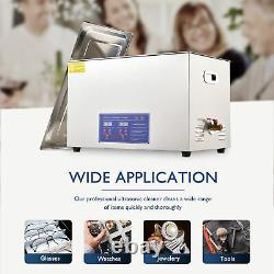 Professional 15L Digital Ultrasonic Cleaner Timer Heater 304 Stainless Steel