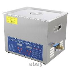 Professional Digital Ultrasonic Cleaner Timer 304 Stainless Steel 10L Basket