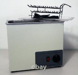 Sonicor Stainless Steel Ultrasonic Cleaner withHeat & Timer, 1.5 Gal S-150TH + Lid