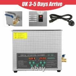 Stainless 6L Double-frequency Industry Heated Ultrasonic Cleaner Digital Timer