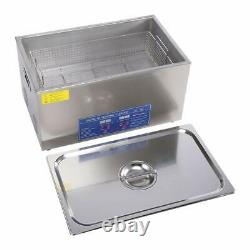 Stainless Digital Ultrasonic Cleaner 22L With Adjustable Timer and Heating Tank