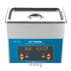 Stainless Steel Ultrasonic Cleaner 3L Liter Heated Heater Timer Industry Clean