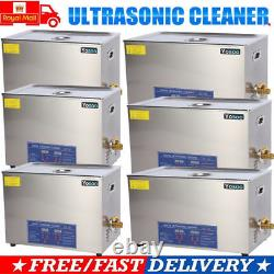 Stainless Steel Ultrasonic Cleaner Ultra Sonic Bath Cleaning Tank Timer 1.3-30L