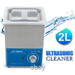 Stainless Ultrasonic Cleaner Ultra Sonic Bath Cleaning Timer Heating 400ML6L