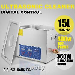 Stainless Ultrasonic Cleaner Ultra Sonic Cleaning Machine Tank withh Timer Heater