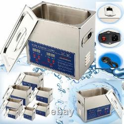 Strong Stainless Steel Digital Ultrasonic Cleaner Ultra Sonic Bath Heater Timer