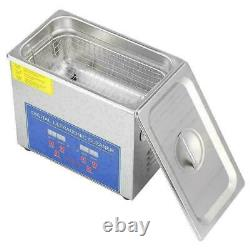 UK 3L Digital Stainless Ultrasonic Cleaner Bath Cleaning Tank Timer&Heater STOCK