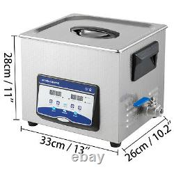 UPGRADE 10L Digital Ultrasonic Cleaner Stainless Disinfection Timer Heat Degas