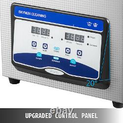 UPGRADE 6.5L Digital Ultrasonic Cleaner Stainless Disinfection Timer Heat Degas