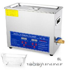 US Stainless Steel Liter Industry Heated Ultrasonic Cleaner Heater Timer Homeuse