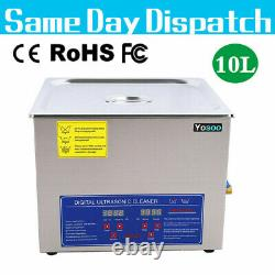 Ultrasonic 10L Stainless Cleaner Digital Cleaning Bath Tank Heater Timer CE FCC