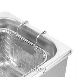 Ultrasonic Cleaner 3L Digital Ultrasonic Wash Cleaner Stainless Steel Ultra Bath