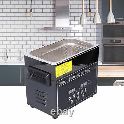 Ultrasonic Cleaner Digital Display Stainless Steel Cleaning Machine 220V New