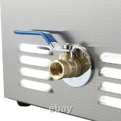 Ultrasonic Cleaner Digital Timer Heater Professional Stainless Steel 10L Basket