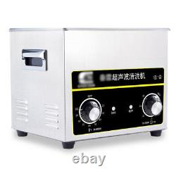 Ultrasonic Cleaner Stainless Steel Heater Device Glass Jewelry Clean 6.5L Tank