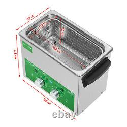 Ultrasonic Cleaner Ultrasonic Cleaning Unit Stainless Steel Timer 80 W Eco 3 L