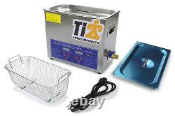Ultrasonic Cleaner With 9in Stainless Basket Ti22 PERFORMANCE TIP8580